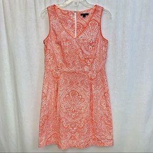 Tommy Hilfiger Fit & Flare Orange Paisley Dress